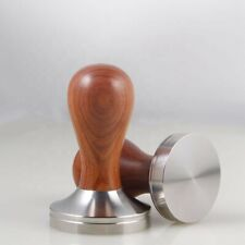 58mm Coffee Tamper Stainless Steel Natural Wood Handle - located in Australia.