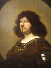 Large 17th Century Dutch Old Master Portrait Gentleman In Armour Mierevelt