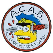 ALL CLANCY'S ARE BASTARDS ENAMEL PIN BY THRILLHAUS THE SIMPSONS TV SHOW