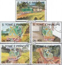 Sao Tome e Principe 1411-1415 gestempeld 1993 Spoorwegen