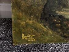 Winston Churchill Original Vintage Landscape Oil painting hand signed Not Print