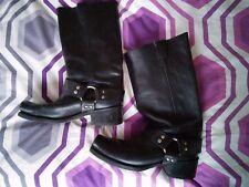 Vulcan Vintage biker boots black leather size 7