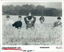 1990 British Indie Rock Band The Charlatans UK Standing in Field Press Photo