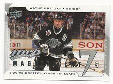 Wayne Gretzky 2008 / 09 Upper Deck MVP Magnificent 7's Card, # M7-WG. LA Kings
