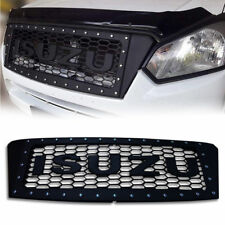 MATTE MATT BLACK FRONT GRILLE GRILL WITH NUT FOR ISUZU D-MAX DMAX 2015 16 17
