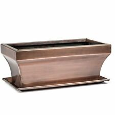 GAR554 H Potter Rectangular Succulent Garden Pot Flower Window Box Planter