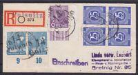 SBZ BZH 169 II, 173 II Paare, 167 II Bogenecke MiF Alliierte R- Brief 1948