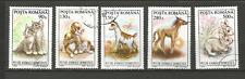 1994 animaux Roumanie 5 timbres anciens oblitérés /T4348