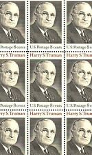 1973 - Harry S. Truman - #1499 Full Mint -Mnh- Sheet of 32 Postage Stamps