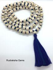 TULSI TULASI Fair Trade MANTRA BASIL KRISHNA HINDU WOOD MALA BEAD 108 MEDITATION
