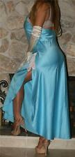 M LONG BLUE SATIN VINTAGE LINGERIE NIGHTGOWN SLIP NEGLIGEE NATORI