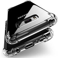 360° Shockproof Soft Silicone Transparent TPU Case Cover For Samsung Galaxy