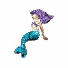Sequin Mermaid (Iron On)  Embroidery Applique Patch Sew Iron Badge