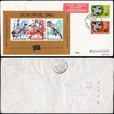 Belgien 1253-54 CEPT 1961+Sonderblock EUROPOL-Athletik,gelauf.Express-Brief