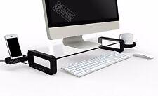 UBOARD SMART 3 Port USB 2.0 Hub Black Tempered Glass Monitor Laptop Stand