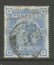 1883/91 Sg 183A, 10/- Pale Ultramarine (NF) Fine used. {TT1449-107}