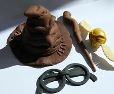 LARGE 3D edible HARRY POTTER hat WAND snitch cake topper DECORATION wizard magic