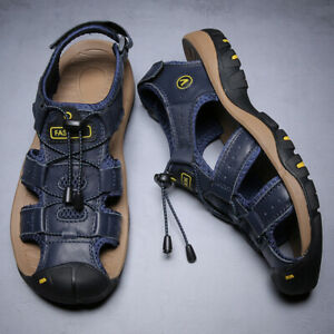 Men's Sandals Closed Toe Outdoor Walking Water Shoes Casual Comfy Hiking Sandal