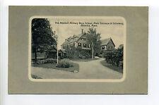 Billerica MA Mass Mitchell Military Boys School, Entrance, Driveway, early