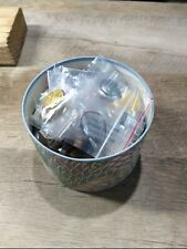 Vintage Box Of Buttons Used & New Old Stock Sewing Crafts