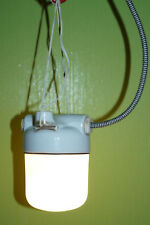 Industrie Design Keller Decken Porzellan vintage Glaskolben Lampe E27