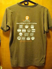Urban Bourbon Trailblazer Louisville Kentucky Ringer T Shirt Medium Brown