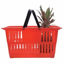 Hubert Shopping Basket Red - 18 1/4 L x 13 1/4 w x 9 1/8 H