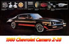 1980 Chevrolet Camaro Z28, BLACK, Refrigerator Magnet
