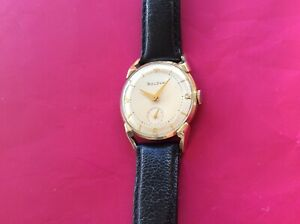 Vintage Bulova Lenox 1953 Manual Wind Watch 10k Gold Plate_Excellent Condition