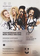 Neon Jungle Hand Signed 6x4 Flyer Autograph, Braveheart, Trouble, Welcome To The