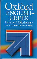 OXFORD ENGLISH-GREEK LEARNER'S DICTIONARY Stavropoulos & Hornby Hardback @NEW@