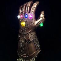 Avengers Infinity War Infinity Gauntlet LED Light Thanos Gloves Cosplay Prop men