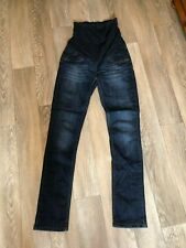 Ladies Maternity 10 Blue skinny Denim Jeans Trousers George over bump
