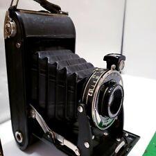 Antique Camera 1937 Voigtlander Bessa Folding 6x9 Case Working Mechanics