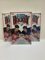 1991-92 Upper Deck Hockey Cards NHL- LNH Sealed Box French Edition (Lot of 3)