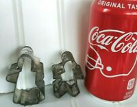 VTG Antique Mini Ginger Bread Man/Boy Amish Woman Tin Cookie Cutter Primitive