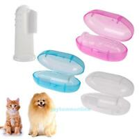 Pet Finger Toothbrush Soft Silicone Dog Tooth Cleaner Cat Teeth Cleaning Set+Box