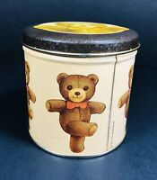 Vintage 1983 Set Dancing Bear Container Chein Industries Tin