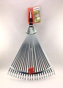 "Gardena 3103 Combisystem HEAD ONLY Metal Adjustable Leaf Rake 12-20"" Wide *READ"