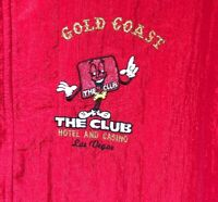 Private Stock Promotions Vintage Zip Red Gold Coast Casino Las Vegas Windbreaker