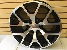 GMC Sierra Wheels GMC Yukon 1500 Black Machined Rims 20 inch 2014 2015 2016 2017