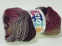 King Cole Riot chunky wool blend yarn Shade gradient colors purple gray 145 yds