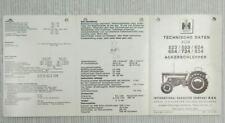 IHC 523 553 624 654 724 824 Technische Daten Ackerschlepper Mc Cormick 10/1972