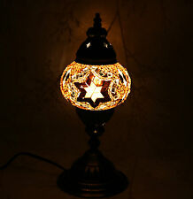 Multicolour Turkish Moroccan Style Mosaic Table Lamp Lampshade Hand Craft MU101