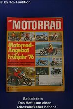 Motorrad 6/76 Yamaha XS 650 Suzuki GT 550