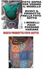 BORSA ETNICA TRACOLLA NEPAL 40x40 cm  BAG  TESSUTO NEPALESE LANACOTTA ORIGINALE