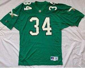 Vtg 90s HERSCHEL WALKER #34 Philadelphia Eagles NFL Jersey Russel Athletic Sz 48