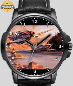 Seconde Guerre Mondiale Avion de Chasse Jets À Guerre Unique Beau Poignet Montre
