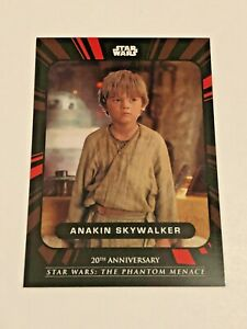 2019 Topps Star Wars Phantom Menace 20th Anniversary #1 - Anakin Skywalker
