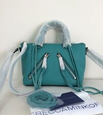 NWT Rebecca Minkoff Micro Moto Satchel Crossbody Sea Green Teal Leather Bag New